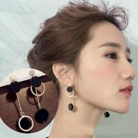 2019 Women Fashion Round Circle Geometry Statement Dangle Earrings Jewelry Gift
