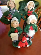 Vintage Byers Choice Carolers lot of 5 Htf Victorian Family