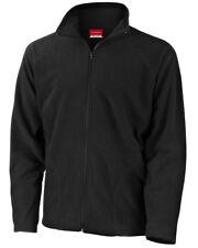 """Result Core Micron Fleece Jacket 8 Colours 34"""" - 53"""" XL Black"""
