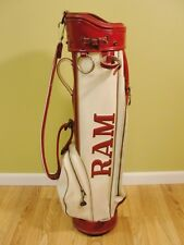 "Vintage Ram Golf 8"" Carry Golf Bag w/Raised Lettering 2-sided graphics"