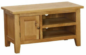 Besp-Oak NB014 Vancouver Petite Cheshire Solid Oak TV Stand Cabinet