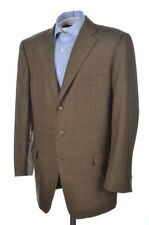 Ermenegildo Zegna Recent Olive Brown Green Check Wool Blazer Sport Coat - 44 R