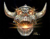 Original Fantasy Art Illustration Screaming Viking Skull Norse Colored Pencil