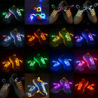 Fiber Optic LED Waterproof Shoelaces Neon Glow In The Dark Stick Rave Party Fun