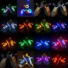 Fiber Optic LED Waterproof Shoelaces Neon Glow In The Dark Stick Rave Party Fun