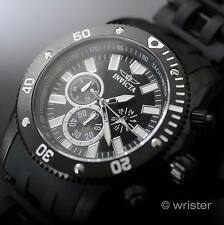 Invicta Sea Spider Men's Chronograph Black Polyurethane Strap 50mm Sport Watch