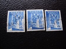 NORVEGE - timbre yvert et tellier n° 319 x3 obl (A30) stamp norway