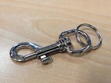Solid Metal Brushed Keyring,New,Car,Keys,House,DIY,Security,Camping,Office,Shop