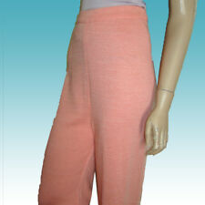 New $200 Santana Knit Pants M-L - MADE IN ITALY by Semplice - Peach BEAUTIFUL
