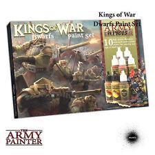 The Army Painter Warpaints: Kings of War Dwarfs Paint Set - 10 Warpaints