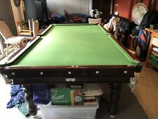 9 Ft Solid Slate Pool Billiards Table with Green Cloth and Accessories