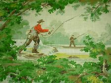 """~BTY~COVINGTON~""""AVONDALE""""CRACKLE HUNTING FISHING~UPHOLSTERY FABRIC FOR LESS~"""