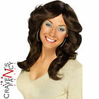 1970s Fancy Dress Charlie Angels ABBA Flick 70s Brunette Brown Wig P7370