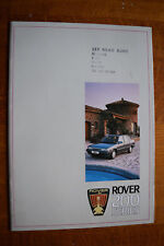 Rover 200 series 25 pages brochure Pub 3646