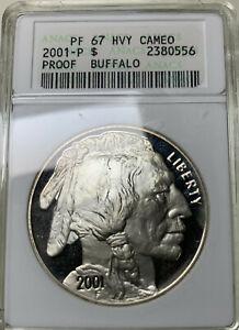 2001 P PF 67 HVY CAMEO Buffalo Proof Silver Dollar COIN