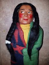 "SKOOKUM INDIAN DOLL 15.5"" T YELLOW TAGGED"