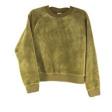 A New Day Velour Green Crewneck Pullover Sweatshirt Size Medium
