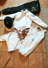 Z Fencing Gear-Long Sleeve,Jacket,Pants, Epee Mask,Bag & 2 Foils Size40 PREOWNED