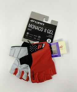 Giro Monaco II Gel Cycling Gloves Red Size Small New with Tags