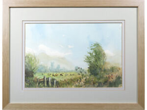 'In Middle Fen', Paul Stafford, original watercolour painting. Animal Landscape
