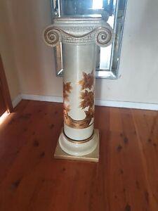 Plant Stand Indoor Pedestal Home Decor Entry Flower Display Antique