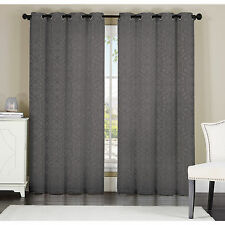 Keegan by Artistic Linen 8-grommet Jacquard Window Single Curtain Panel PAIR NEW