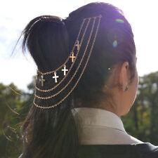 Gold Hair Chain Head Piece Comb Cuff Crosses Arabian Oriental Jewelry Free Ship