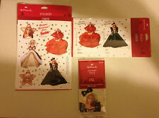 1995 Hallmark Lot of 3 Happy Holidays Barbie Stickers, Seals & Tags NEW Sealed