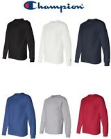 Champion NEW Mens Size S-2XL Long Sleeve Tagless Cotton Gym Workout T-Shirt CC8C