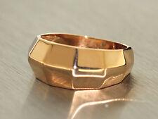 Massiver Goldring 750 Rosegold - Ring Gold 18 kt - moderner Damenring