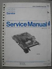 Philips D5 Auto Cassette Deck Service Manual inkl. D5-5, D5-7 u. Werkst. Info