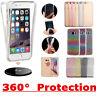 Shockproof 360° Full Silicone Clear Gel Case Cover For Apple iPhone X 8 7 6 Plus