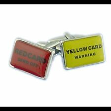 Men's Football Red and Yellow Cards Cufflinks