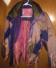 Vtg 80's 90's NEVICA Frontline Iridescent Ski Snowboard Full Zip Jacket 8