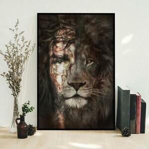 Jesus And Lion Poster Jesus Is King Poster God Poster