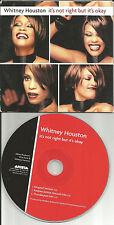 WHITNEY HOUSTON It's Not right but okay 3TRX 2 MIXES USA CD single thunderpuss