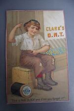 victorian trade card advertising Clark's ONT Thread