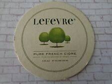 Beer Coaster ~ LEFEVURE French Apple Cidre ~ Over 200 Years in Normandy, FRANCE