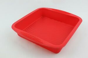 SQUARE 24x24x5cms BROWNIE CAKE BAKING TIN TRAY SET LASAGNE BREAD SILICONE