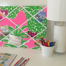 New Memo board made with Lilly Pulitzer Pink Pout Flamenco fabric