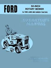 FORD 50 Inch Rotary Mower Operators Manual