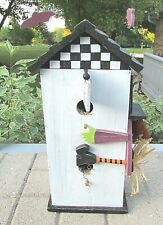 Halloween Themed Flying Witch Decorative Wooden Birdhouse