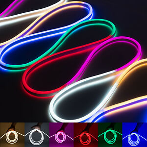 WYZwork 50' 100' 150' Flexible Waterproof Soft Double Sided LED Rope Light Strip