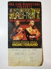 Holyfield vs Tyson II boxing event ticket MGM Las Vegas 1997 biting incident