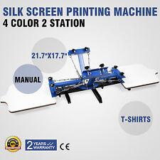 VEVOR Macchina serigrafica per stampa a colori 4 sui prodotti tessili 2 station