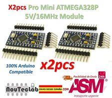 2pcs Pro Mini ATMEGA328P 5V/16MHz Module with Bootloader Pin Header for Arduino