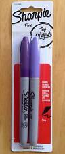 The Original Sharpie Permanent Marker Pens ~ Fine Point/Tip ~ 2Pk Purple & Lilac