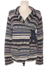 ODD MOLLY Women's Blue Striped Tie Wrap Front Cardigan Collared Long Sleeve sz 4