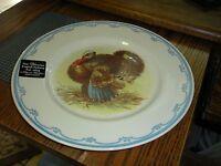 "Victorian English Pottery Turkey Thanksgiving 8 1/2"" Plates Edward Challinor"