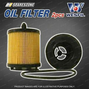 2 x Wesfil Oil Filters for Mahindra Pik Up S5 2.5L CRD 4Cyl 16V DOHC Turbo